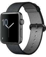 Apple Watch Series 2 42mm, šedé, černý řemínek z tkaného nylonu